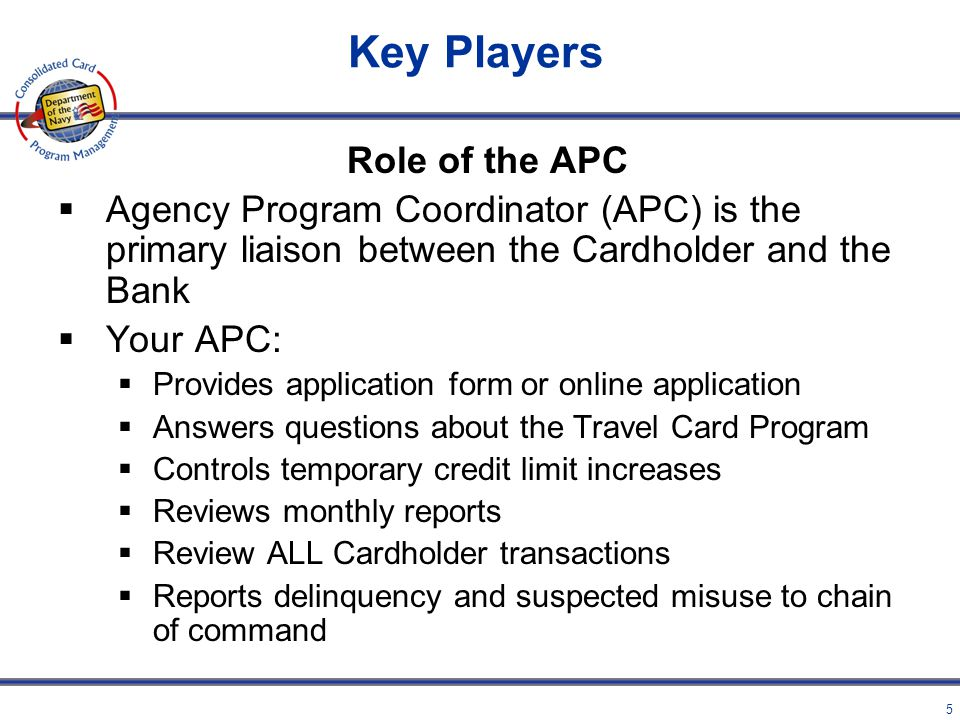 Key Players Role of the APC