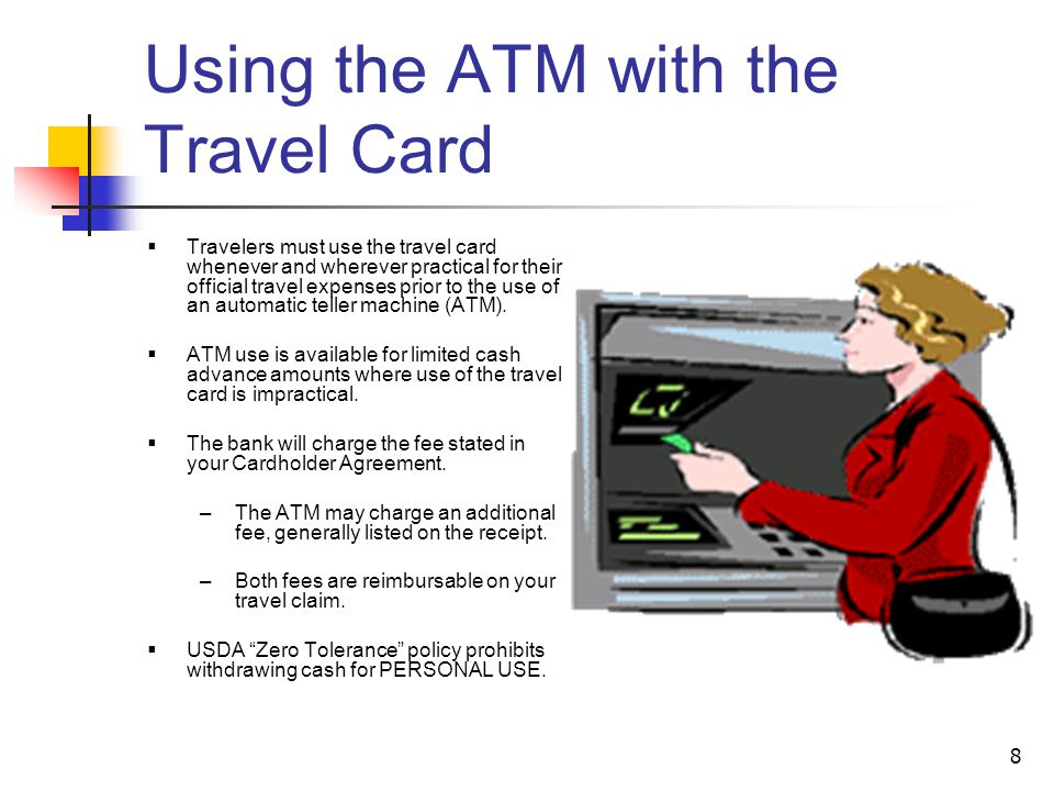 Using the ATM with the Travel Card
