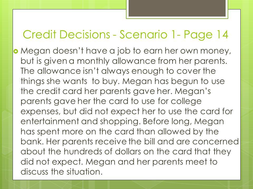 Credit Decisions - Scenario 1- Page 14