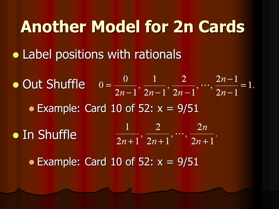 Another Model for 2n Cards