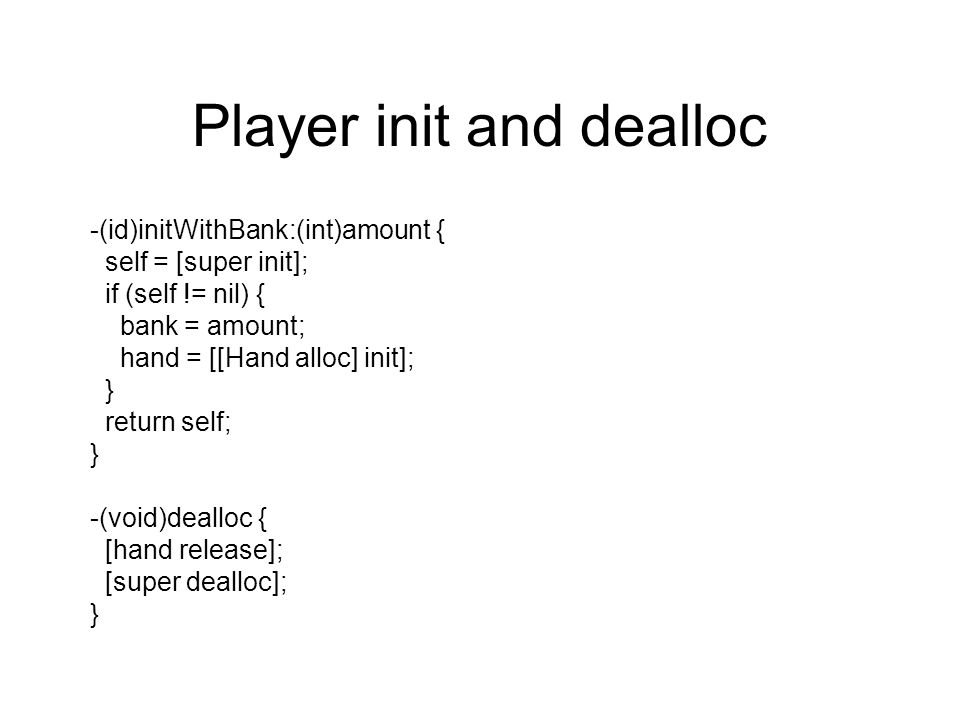 Player init and dealloc