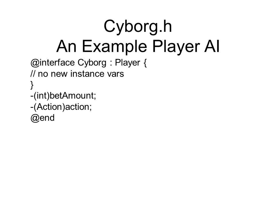 Cyborg.h An Example Player AI