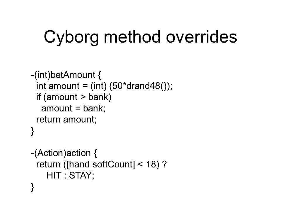 Cyborg method overrides
