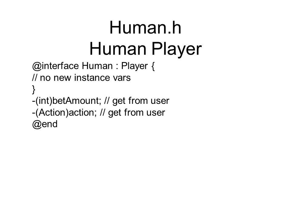 Human.h Human Player @interface Human : Player {