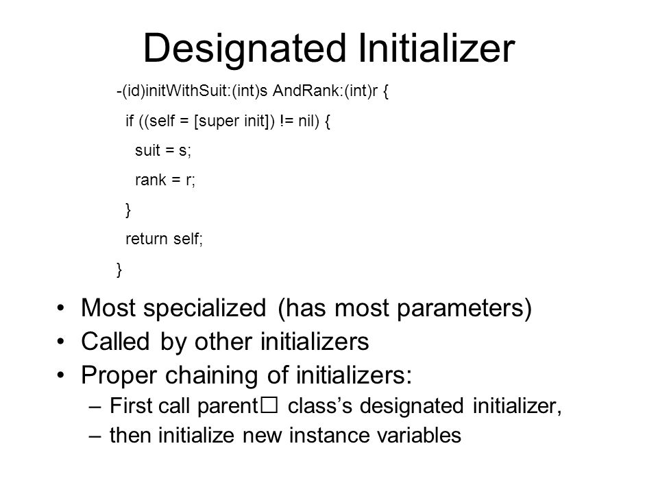 Designated Initializer
