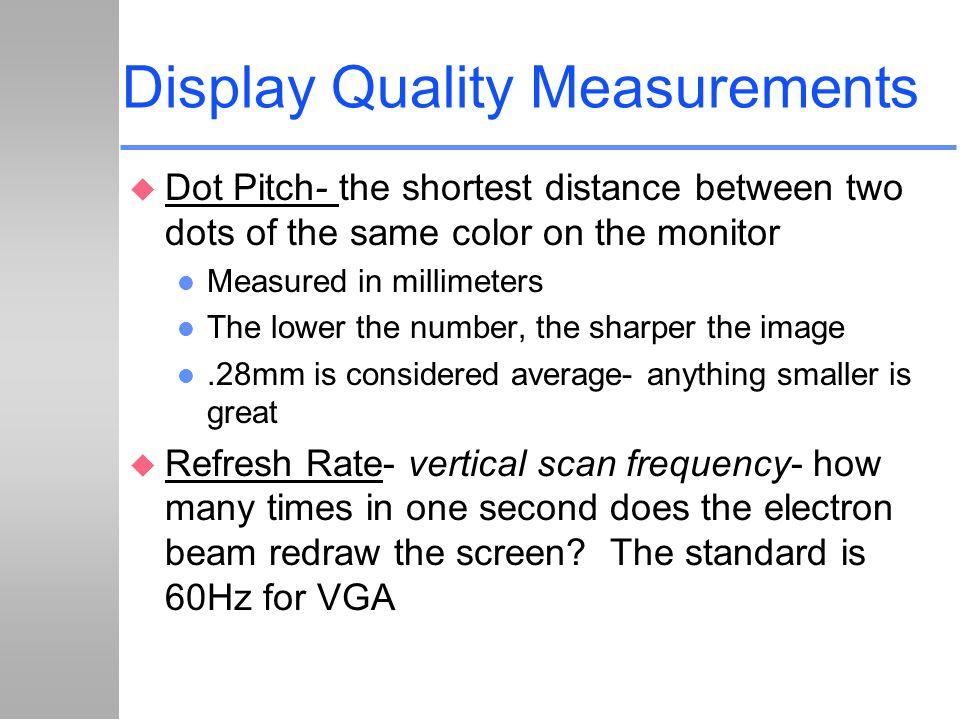 Display Quality Measurements