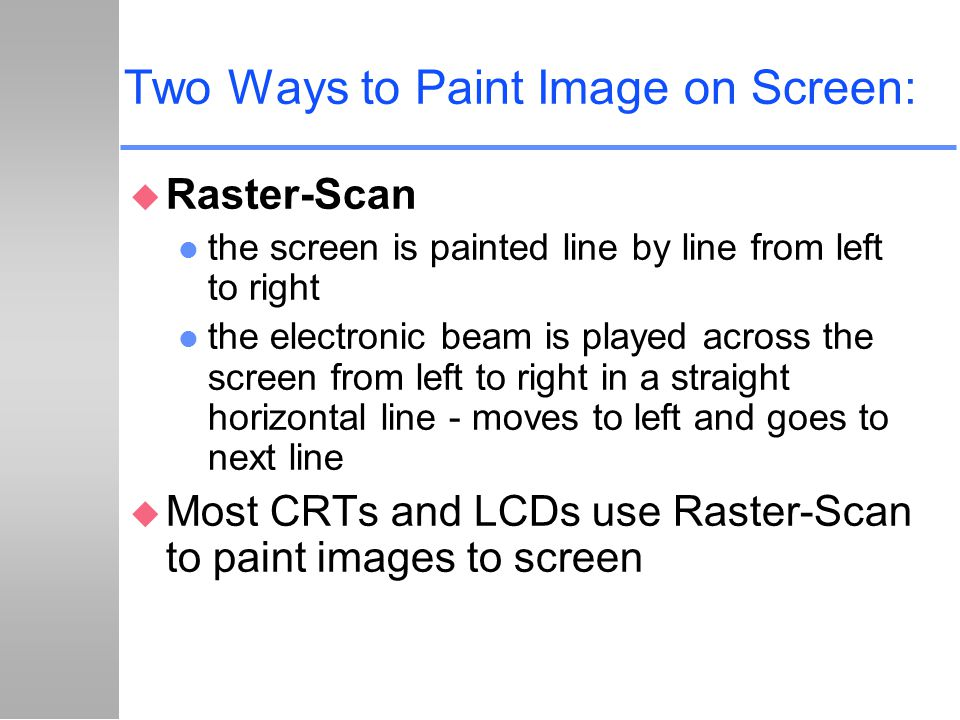 Two Ways to Paint Image on Screen:
