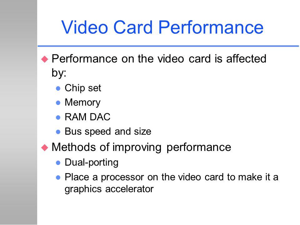 Video Card Performance
