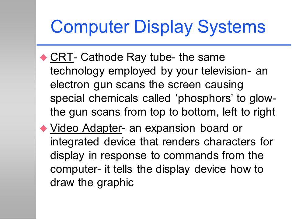 Computer Display Systems