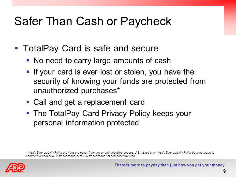 Safer Than Cash or Paycheck