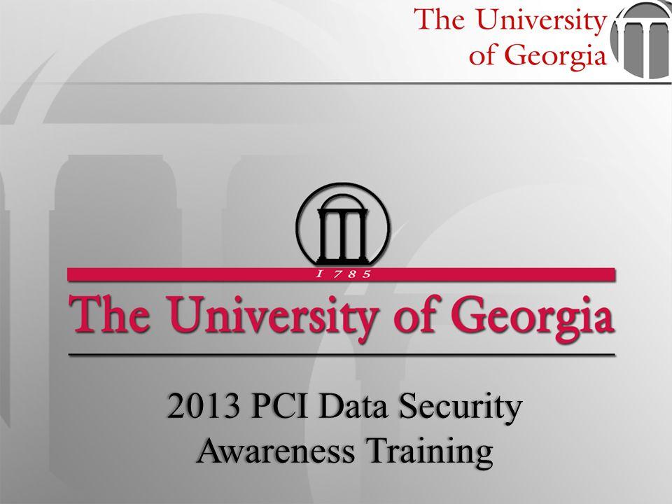 2013 PCI Data Security Awareness Training