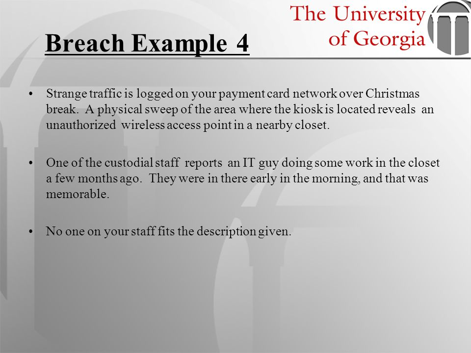 Breach Example 4