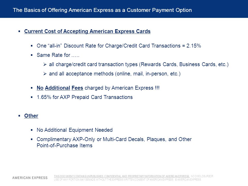 The Basics of Offering American Express as a Customer Payment Option