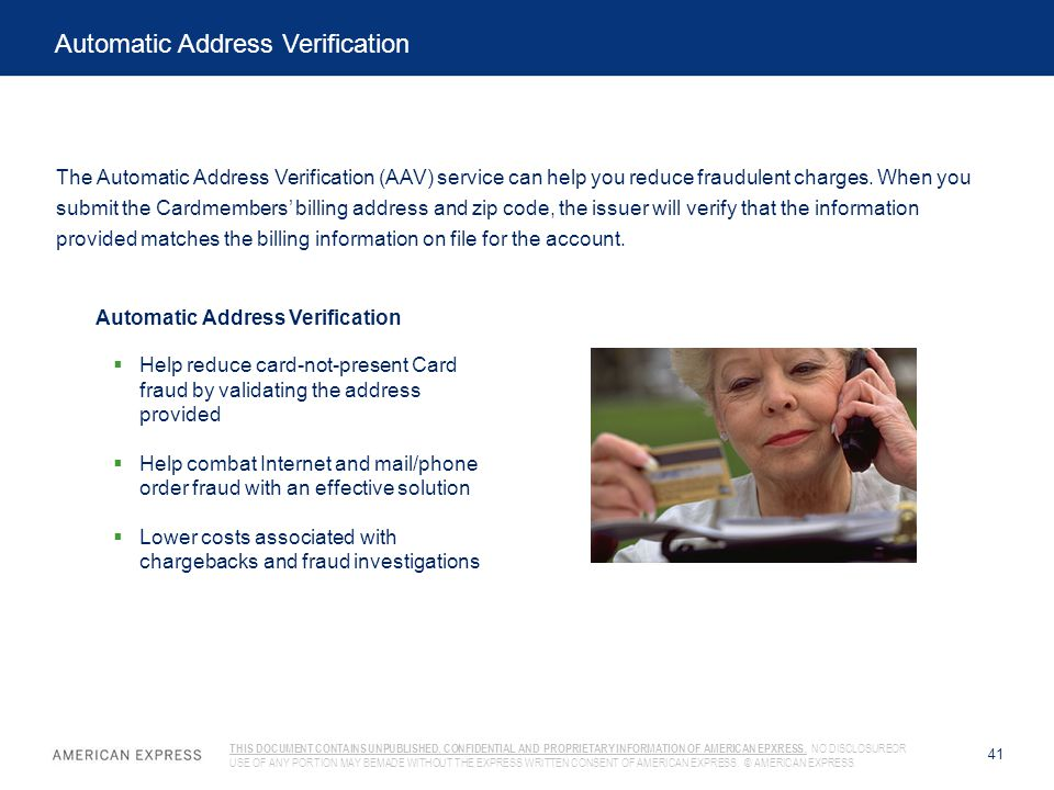 Automatic Address Verification