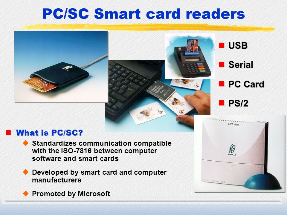 PC/SC Smart card readers