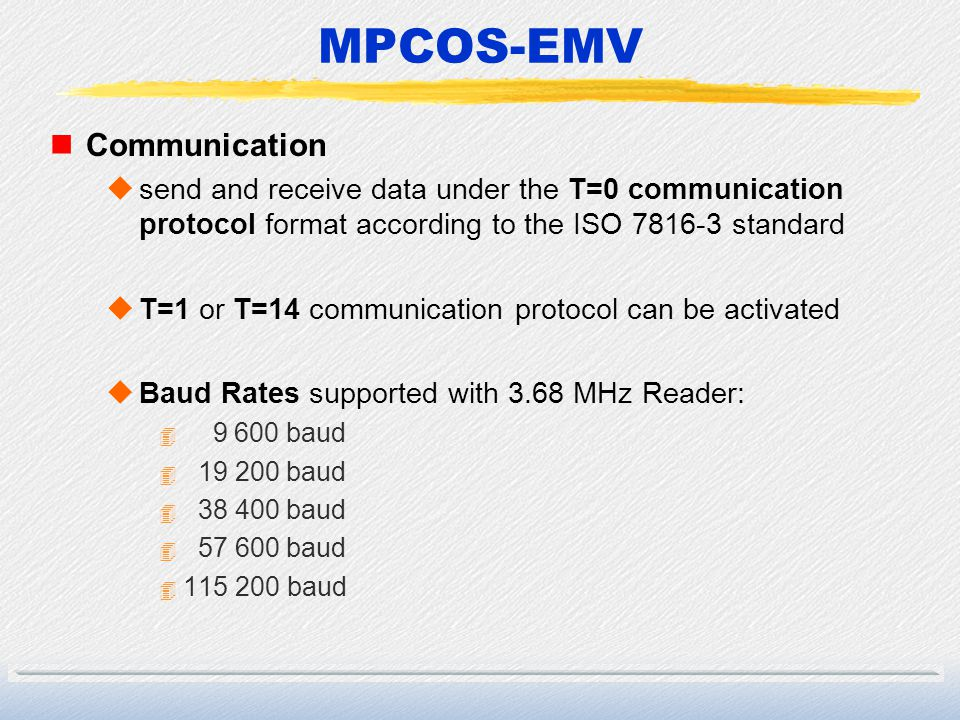 MPCOS-EMV Communication