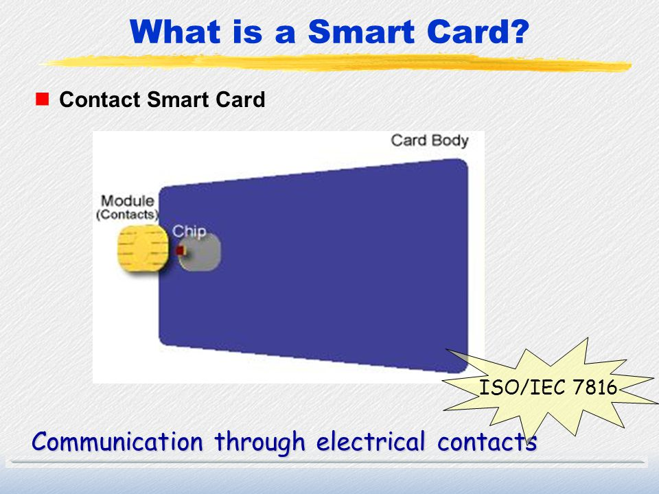 What is a Smart Card Communication through electrical contacts