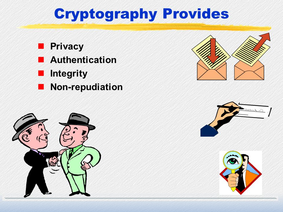 Cryptography Provides