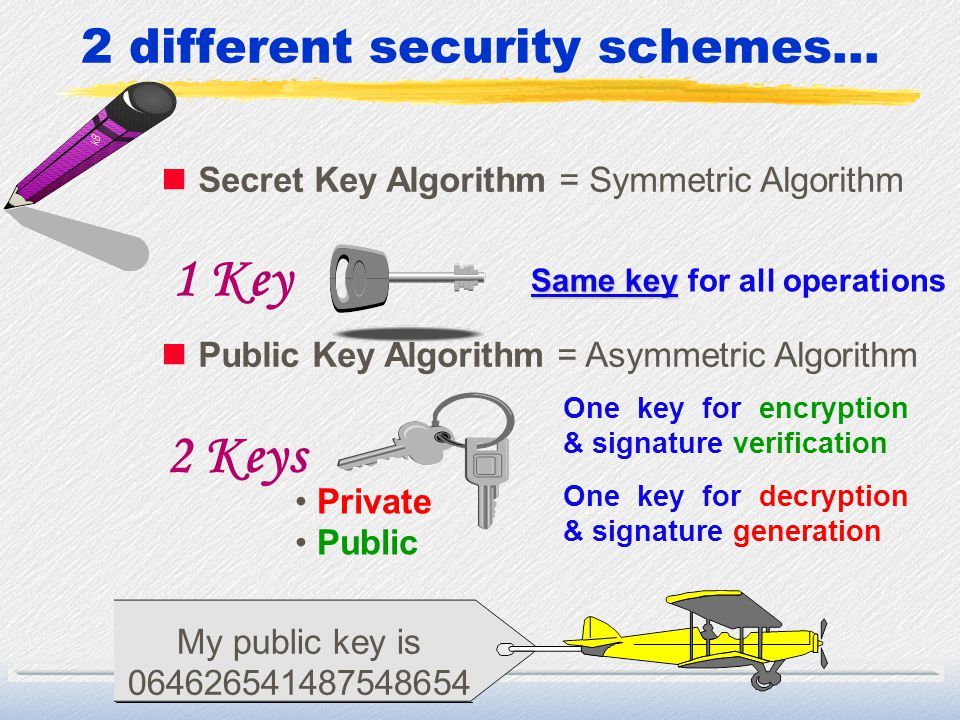 2 different security schemes...