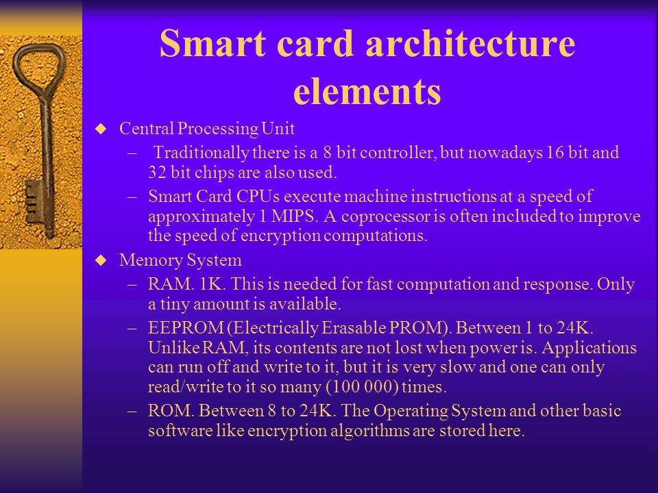 Smart card architecture elements