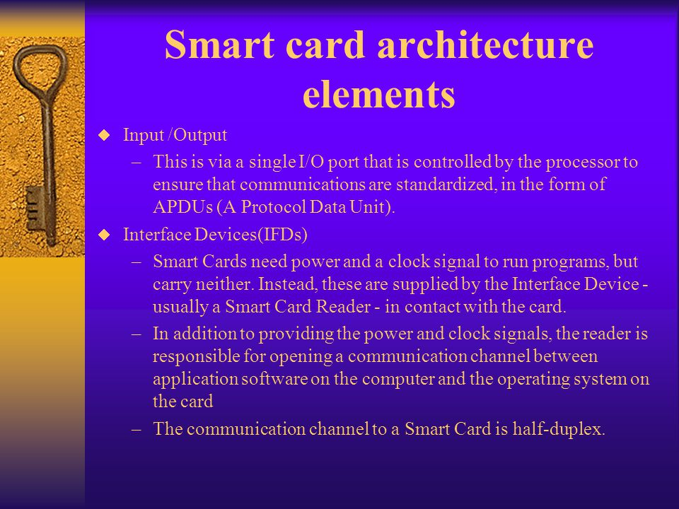 Smart card architecture elements