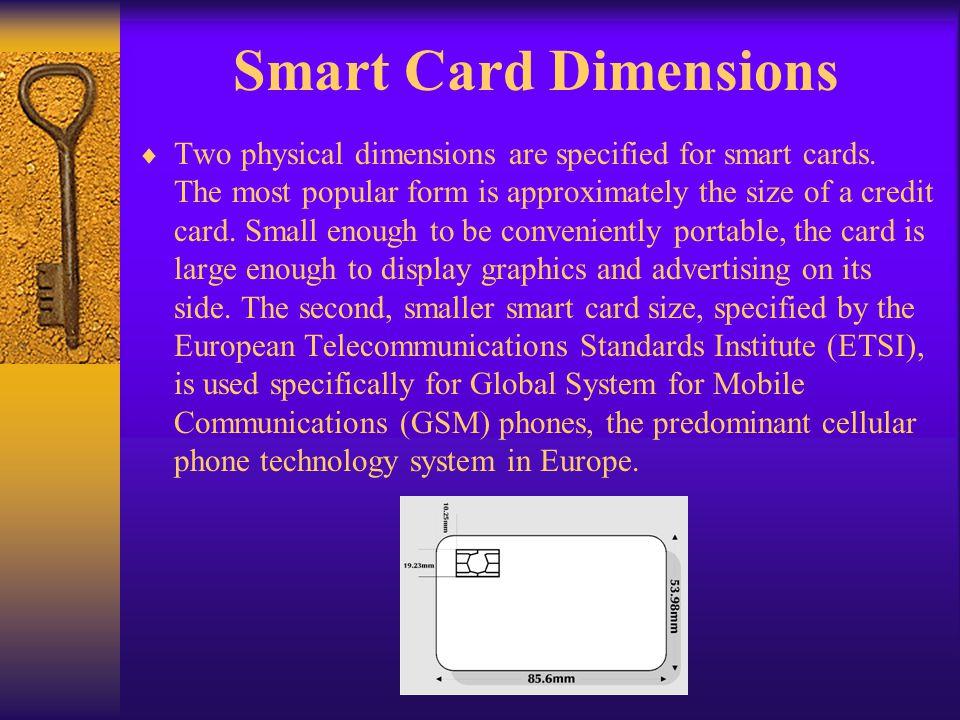 Smart Card Dimensions