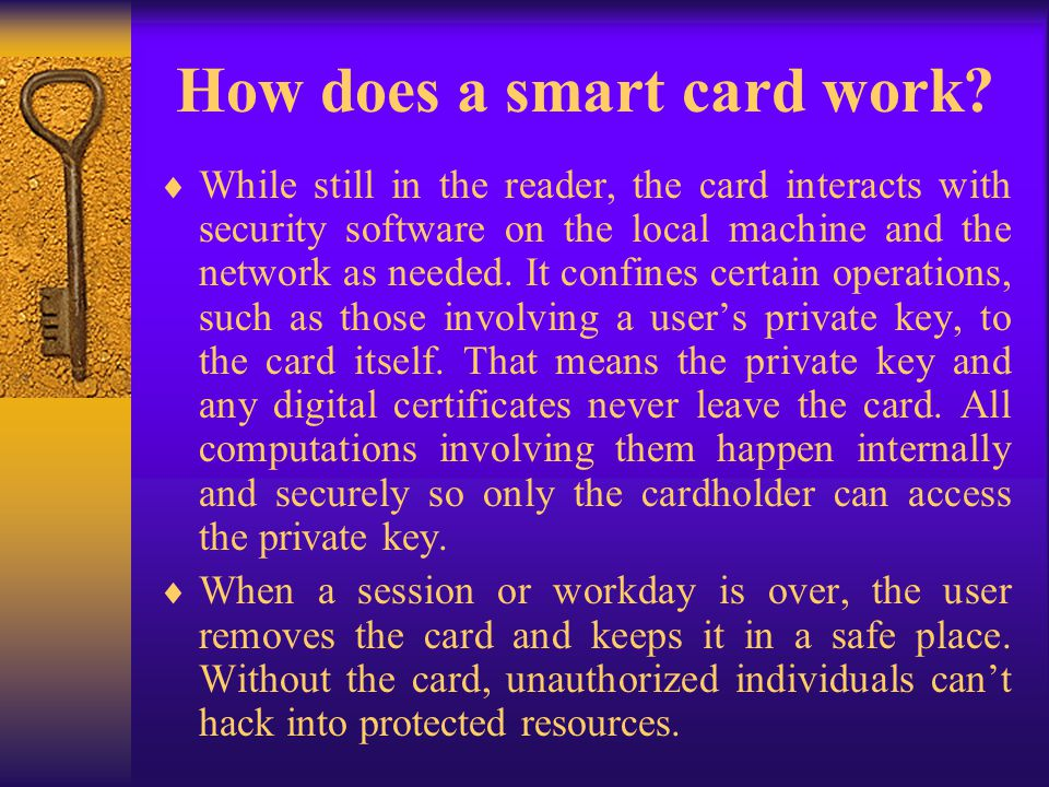 How does a smart card work