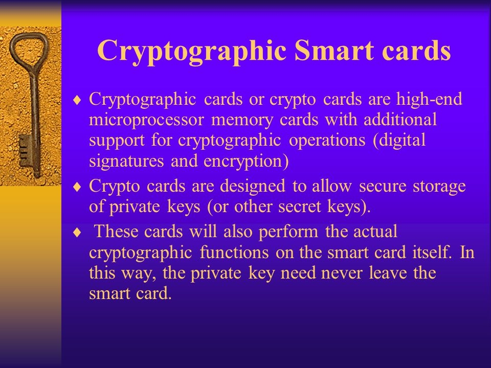 Cryptographic Smart cards