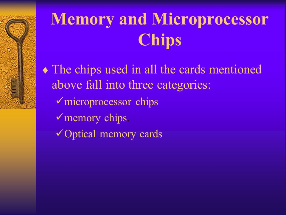 Memory and Microprocessor Chips