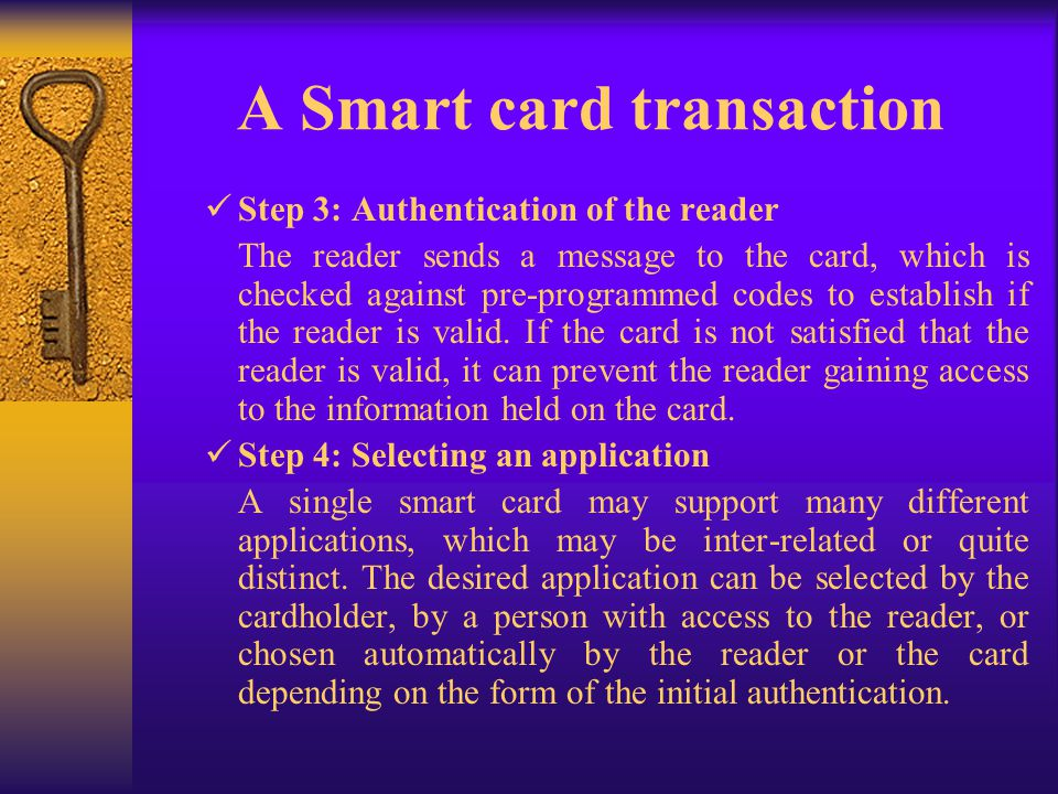 A Smart card transaction