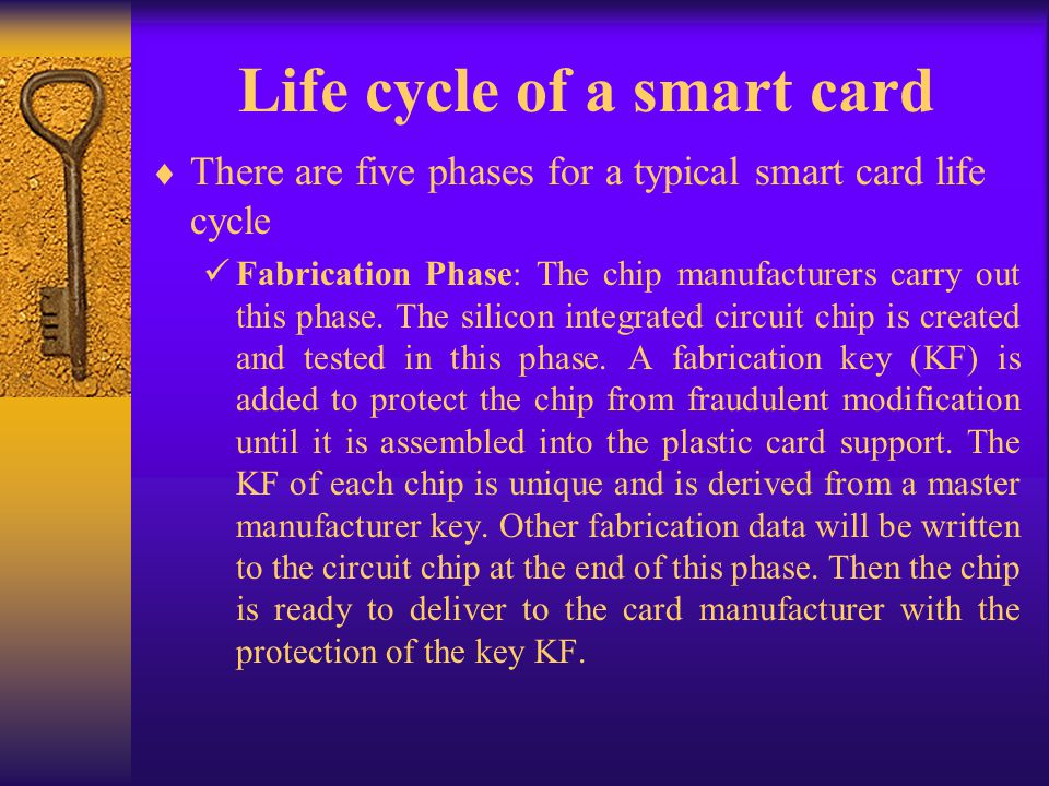 Life cycle of a smart card