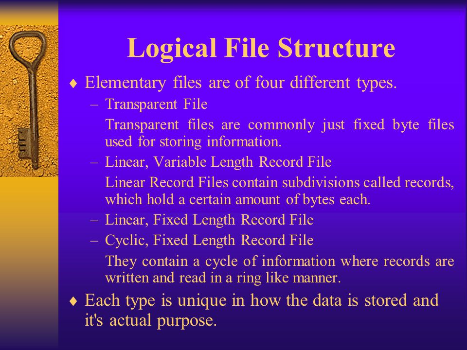 Logical File Structure