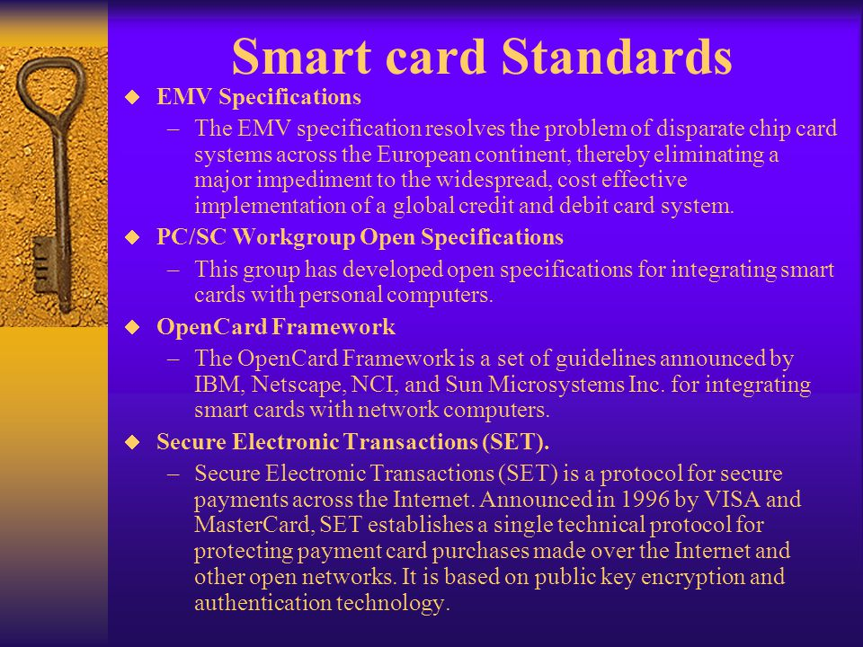 Smart card Standards EMV Specifications