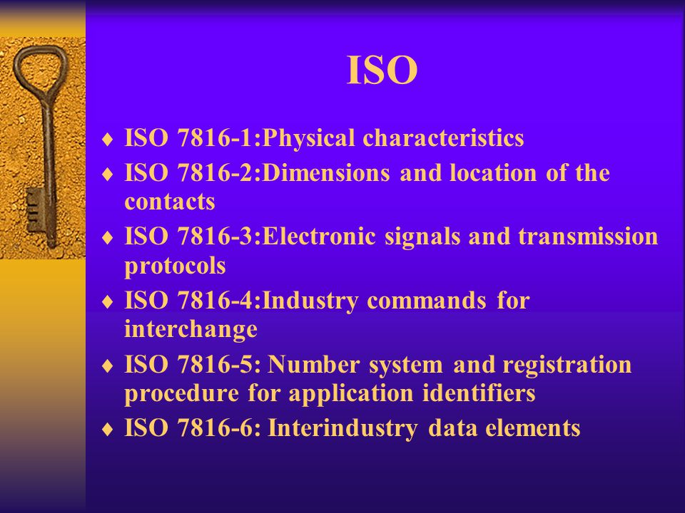 ISO ISO 7816-1:Physical characteristics