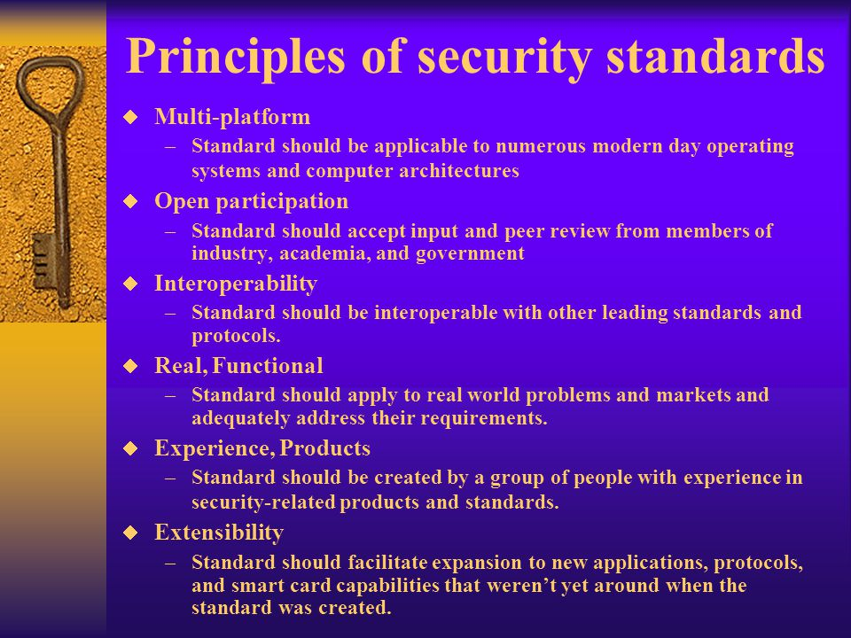 Principles of security standards