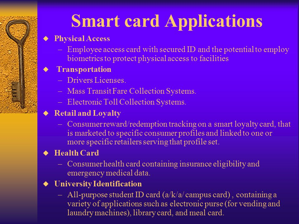 Smart card Applications