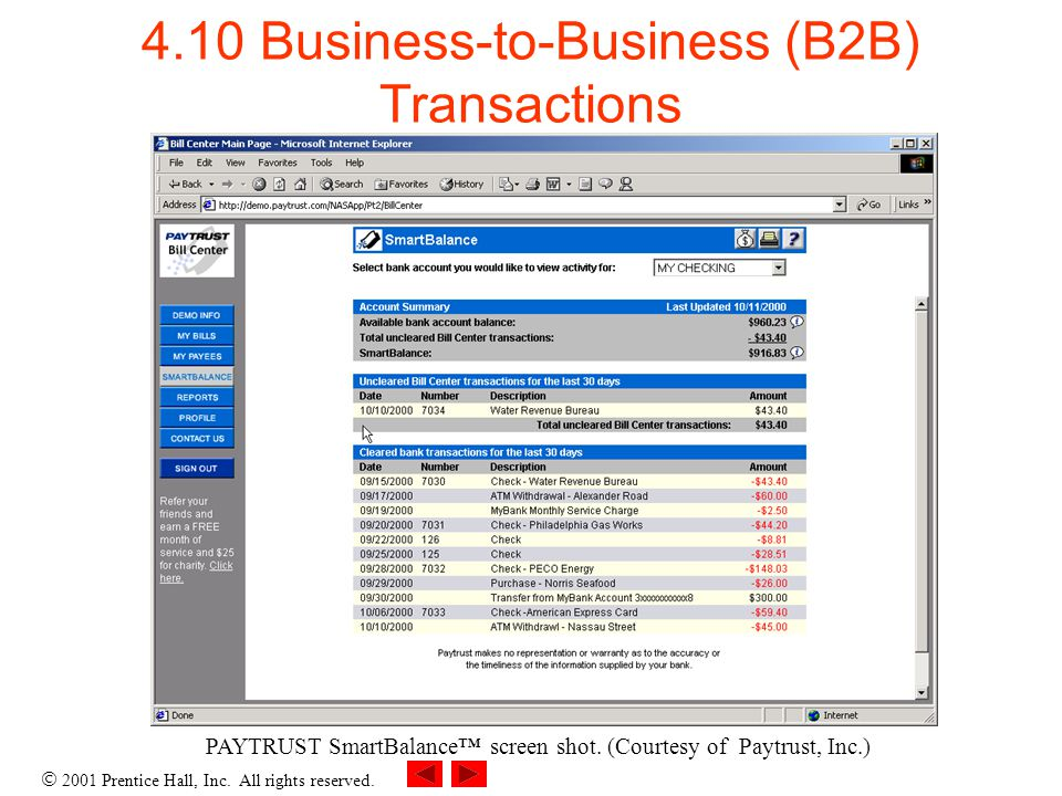 4.10 Business-to-Business (B2B) Transactions