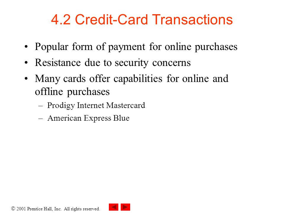 4.2 Credit-Card Transactions