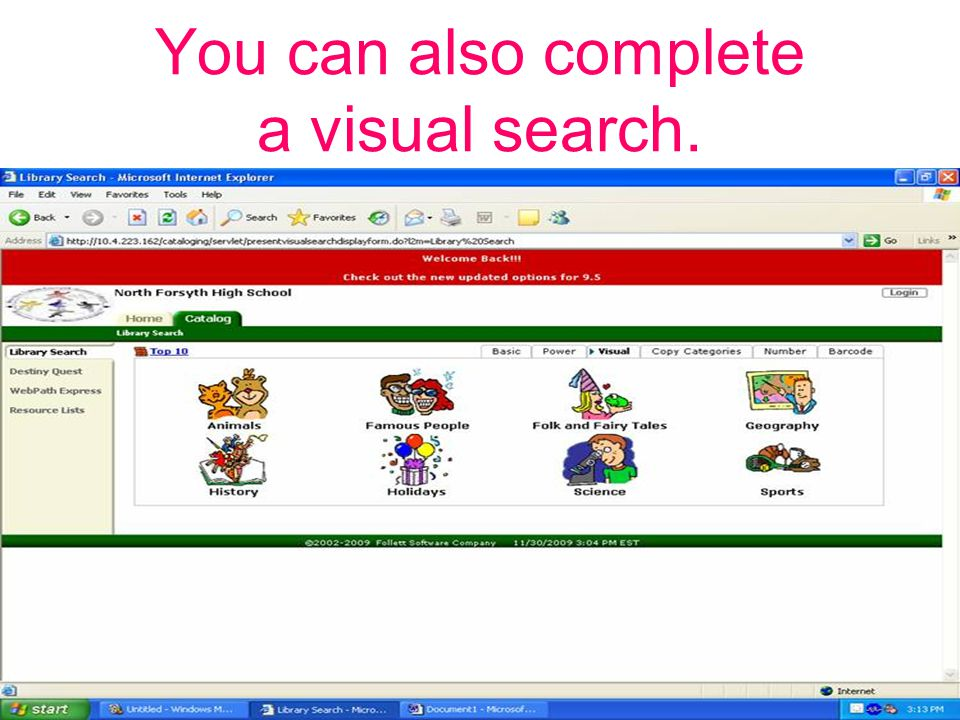 You can also complete a visual search.