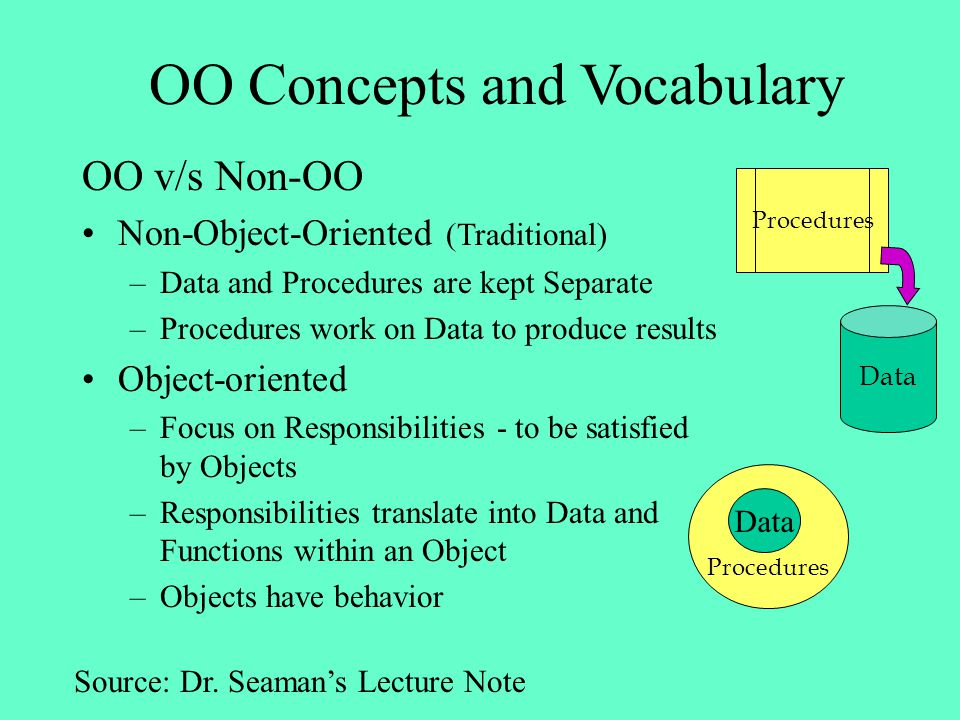 OO Concepts and Vocabulary