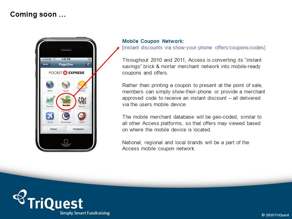 Coming soon … Mobile Coupon Network: