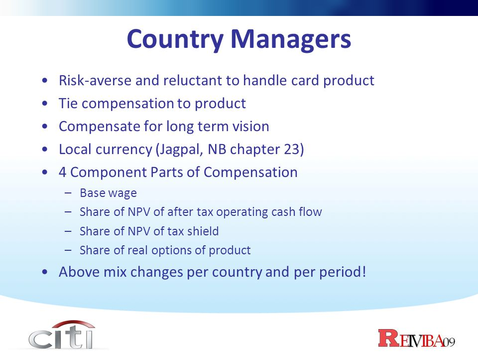 Country Managers Risk-averse and reluctant to handle card product