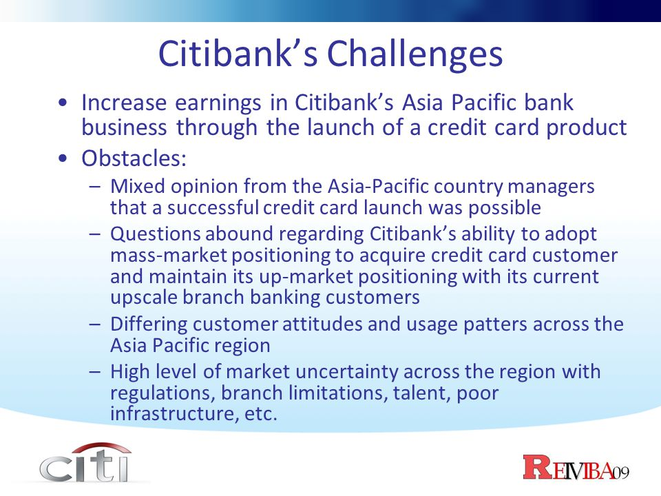 Citibank launching the credit card in asia pacific