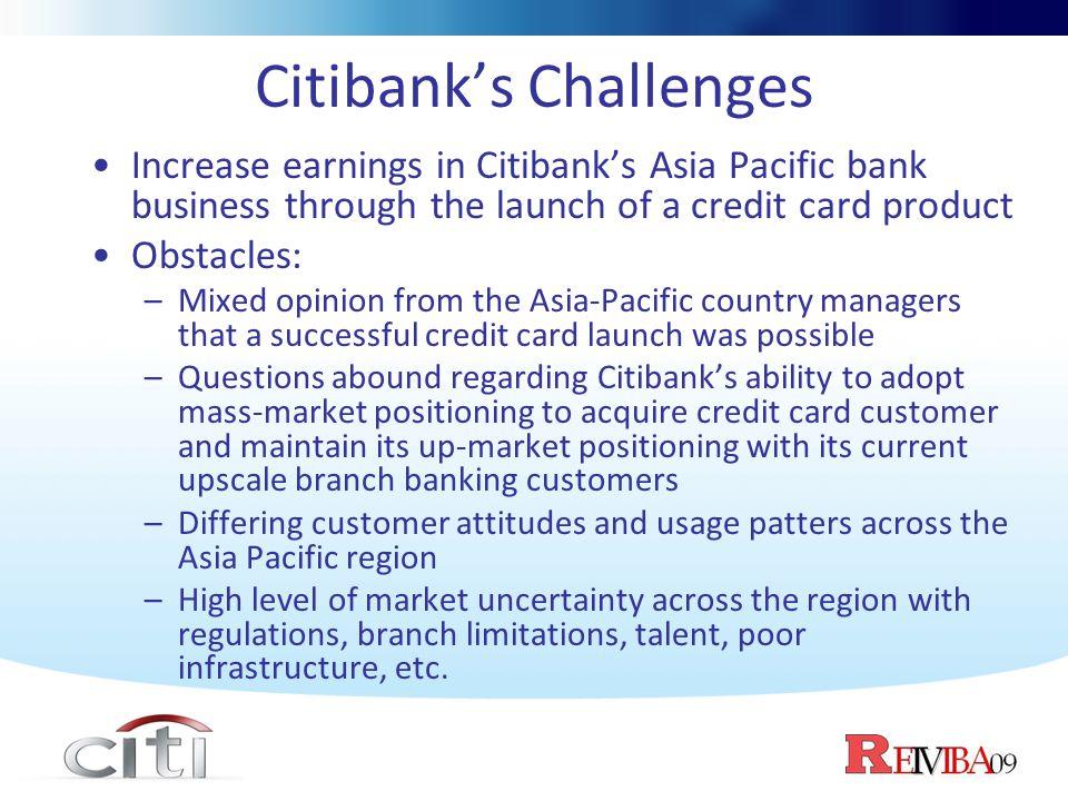 Citibank's Challenges