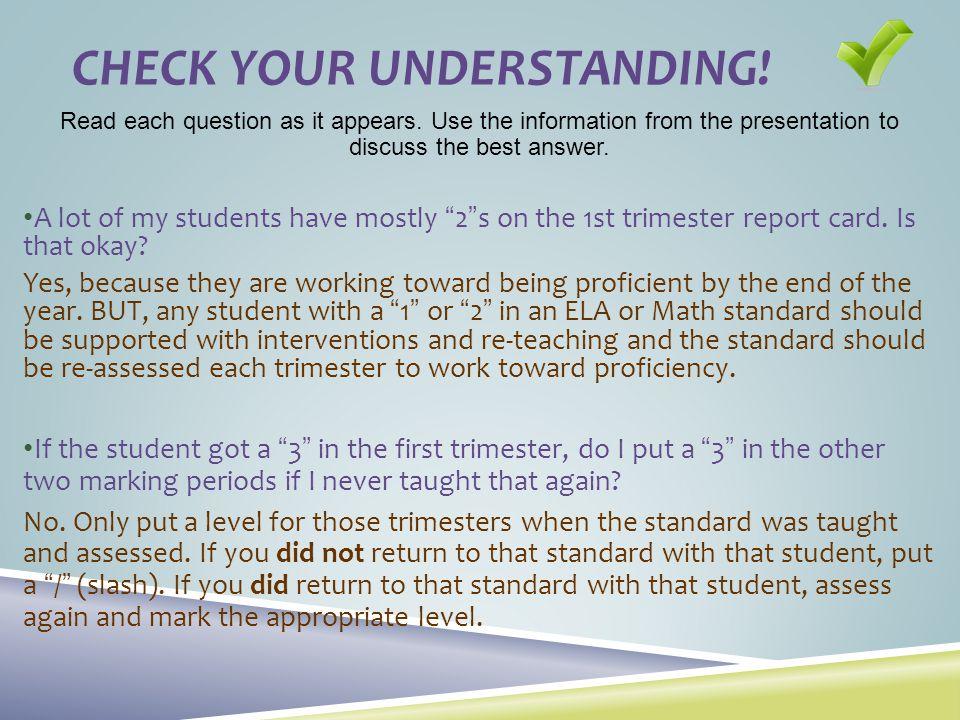 Check Your understanding!