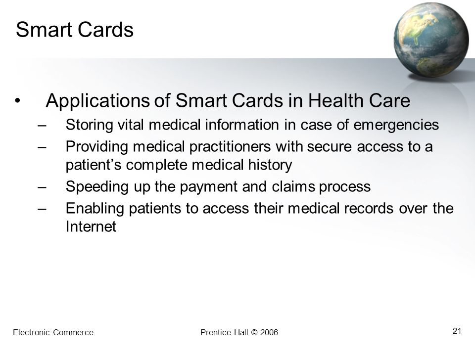 Smart Cards Applications of Smart Cards in Health Care