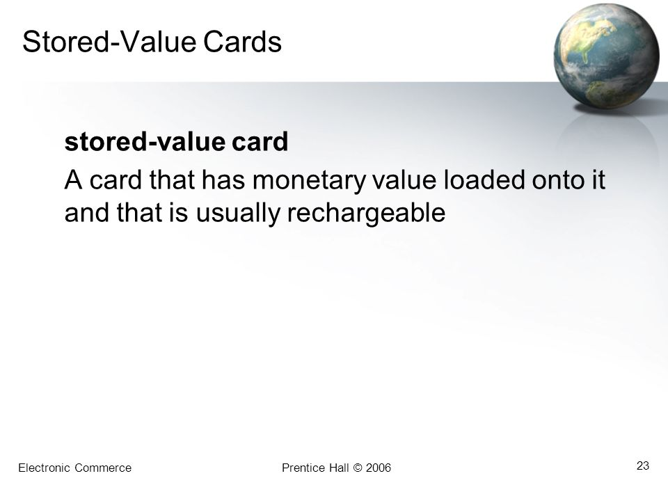 Stored-Value Cards stored-value card