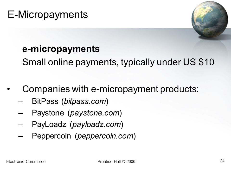 E-Micropayments e-micropayments