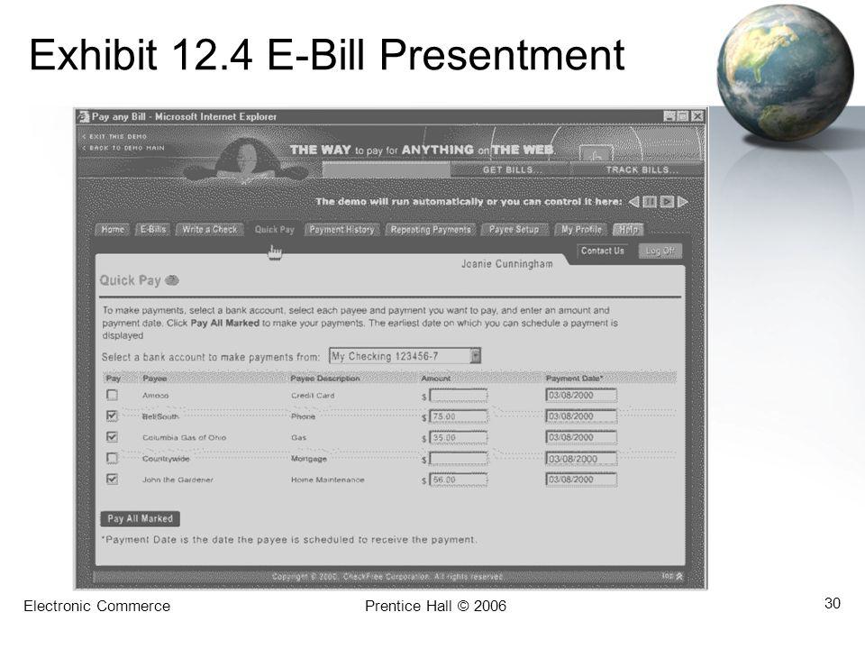 Exhibit 12.4 E-Bill Presentment