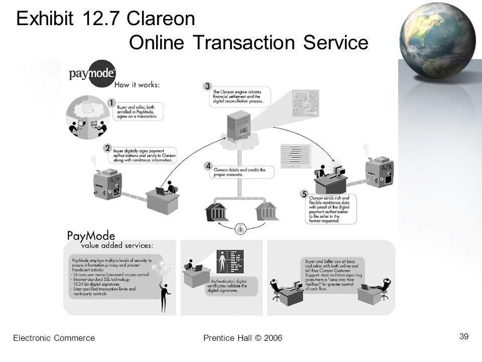Exhibit 12.7 Clareon Online Transaction Service